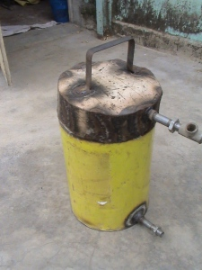 promotion of  green energy(home built gasifier)